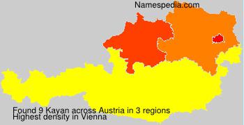 Surname Kayan in Austria