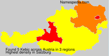 Familiennamen Kebic - Austria