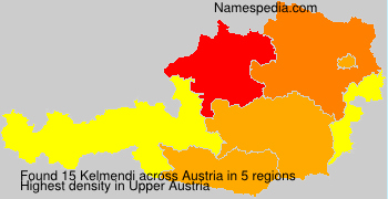 Familiennamen Kelmendi - Austria