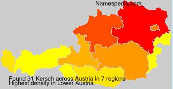 Surname Kersch in Austria