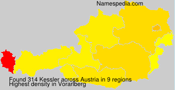 Surname Kessler in Austria