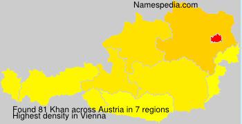 Surname Khan in Austria