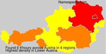 Surname Khoury in Austria
