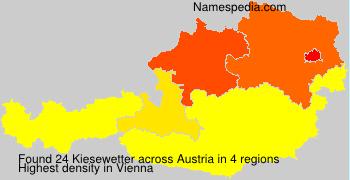 Familiennamen Kiesewetter - Austria