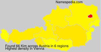 Familiennamen Kim - Austria