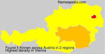 Surname Kinnen in Austria