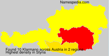 Surname Klarmann in Austria