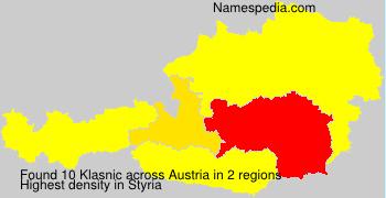 Surname Klasnic in Austria