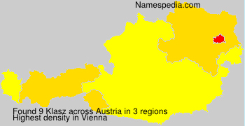 Surname Klasz in Austria