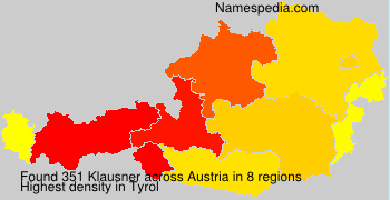 Surname Klausner in Austria