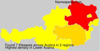 Familiennamen Kleeweis - Austria