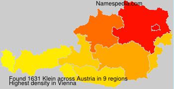 Surname Klein in Austria