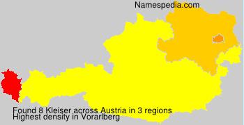 Surname Kleiser in Austria