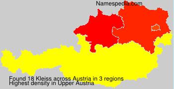 Familiennamen Kleiss - Austria
