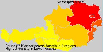 Familiennamen Klenner - Austria
