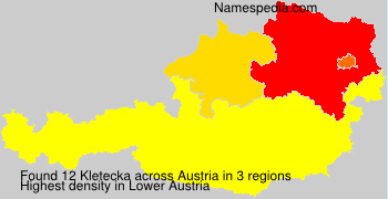 Surname Kletecka in Austria
