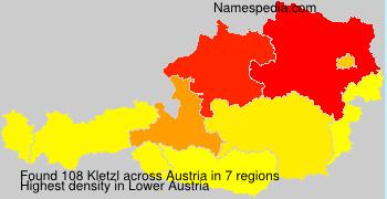 Surname Kletzl in Austria