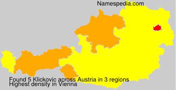 Surname Klickovic in Austria