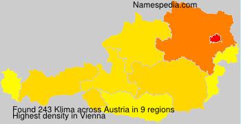 Familiennamen Klima - Austria