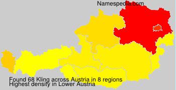 Familiennamen Kling - Austria