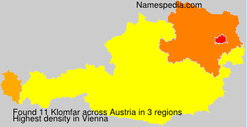 Surname Klomfar in Austria