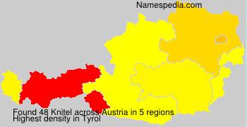 Surname Knitel in Austria