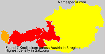 Familiennamen Knollseisen - Austria