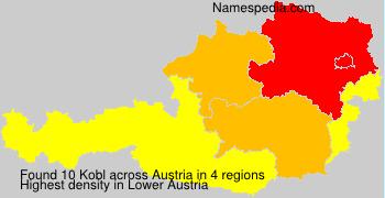 Surname Kobl in Austria