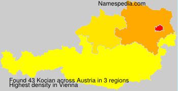 Familiennamen Kocian - Austria