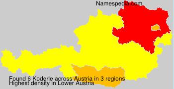 Surname Koderle in Austria