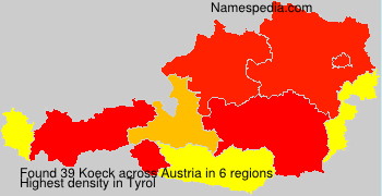 Surname Koeck in Austria