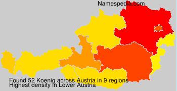 Familiennamen Koenig - Austria