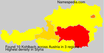 Surname Kohlbach in Austria