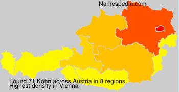 Surname Kohn in Austria