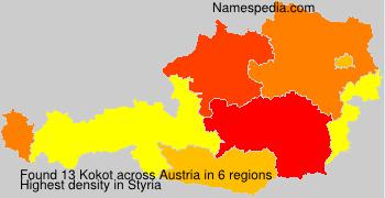 Surname Kokot in Austria