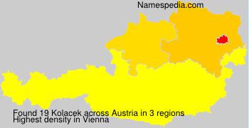 Surname Kolacek in Austria
