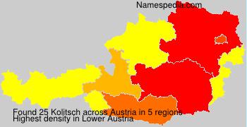 Surname Kolitsch in Austria