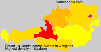 Surname Kondic in Austria