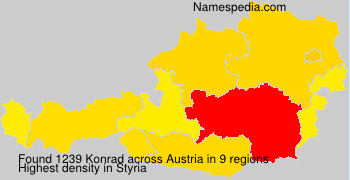 Surname Konrad in Austria