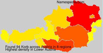 Surname Korb in Austria