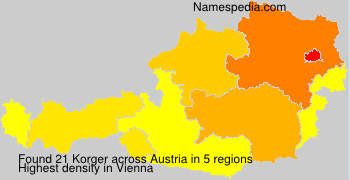 Surname Korger in Austria