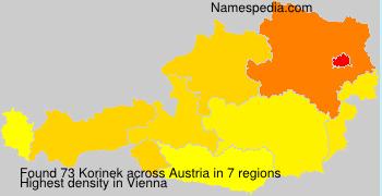 Surname Korinek in Austria