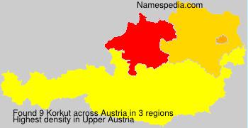Surname Korkut in Austria