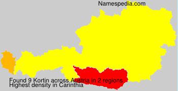 Familiennamen Kortin - Austria