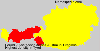 Surname Kostacevic in Austria
