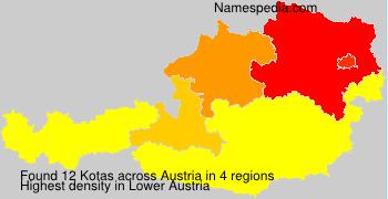 Surname Kotas in Austria
