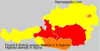 Familiennamen Kotnig - Austria