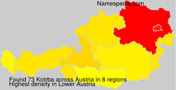 Surname Kotrba in Austria