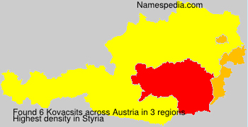 Surname Kovacsits in Austria