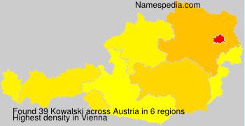 Surname Kowalski in Austria